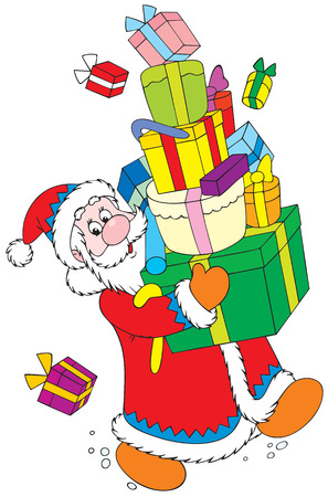 newyear: Santa Claus with Christmas gifts