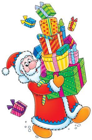 Santa Claus and Christmas gifts Stock Photo - 3924750