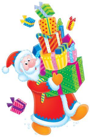 Santa Claus and Christmas gifts Stock Photo - 3927284