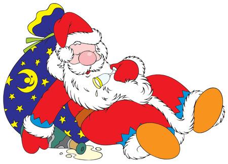 Tipsy Santa Claus Stock Vector - 4008898