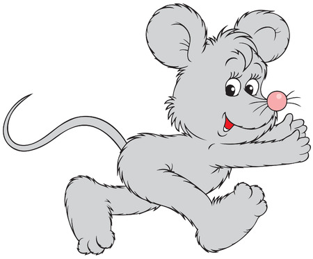 coward: Running mouse Illustration