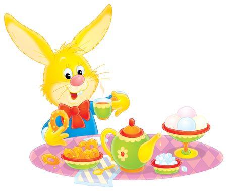 eastertide: Easter Bunny at breakfast