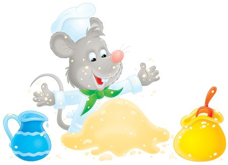 dough: Mouse making dough
