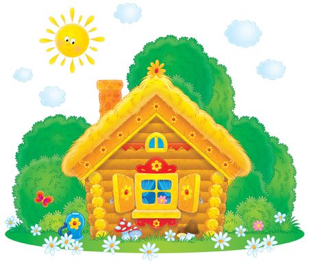 Rural House in Fairyland Stock Photo - 4293427