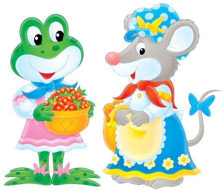 amigas conversando: Rana y el rat�n