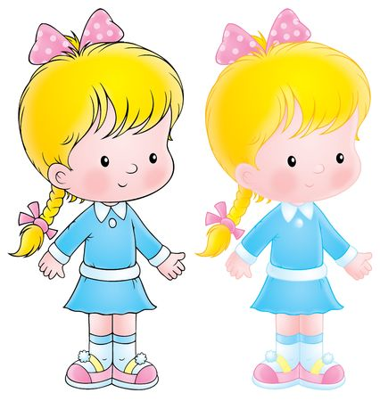 dolly: Little girl Stock Photo