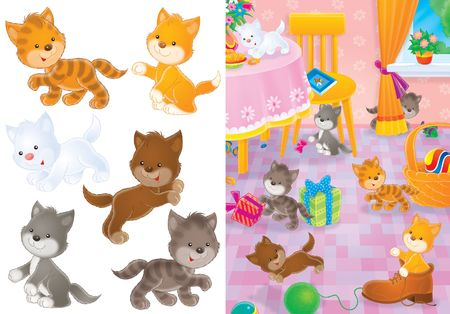 Playing kittens photo