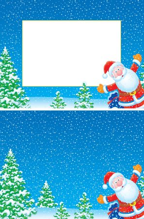 Christmas frame and background Stock Photo - 4690268