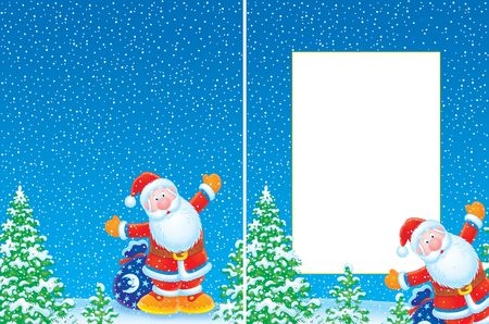 Christmas frame and background Stock Photo - 4699325