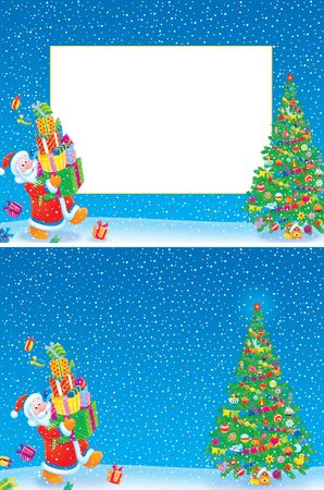 Christmas frame and background Stock Photo - 4699326
