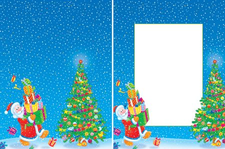 Christmas frame and background Stock Photo - 4715047