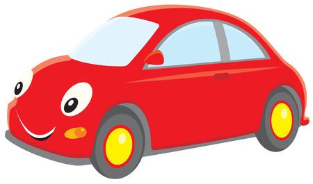 autom�vil caricatura: Coche rojo