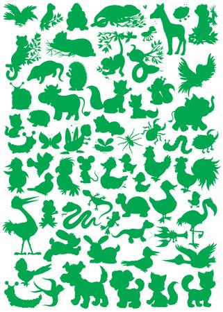 Animal silhouettes Illustration