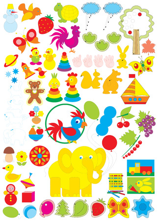 Simple objects for kindergarten Vector