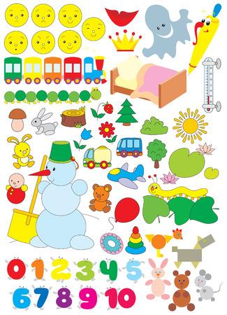 Simple objects for kindergarten Vector