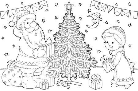 Santa Claus and Snow Maiden Stock Photo - 4909816