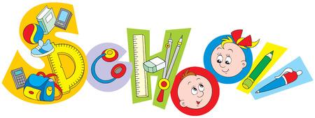objetos escolares: Objetos de la Escuela Vectores
