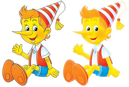 affable: Pinocchio  Buratino Stock Photo
