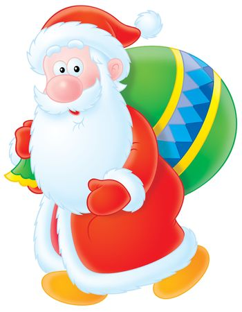 newyear night: Santa Claus Stock Photo
