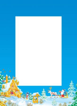 christmastide: Christmas frame  border with Santa Claus