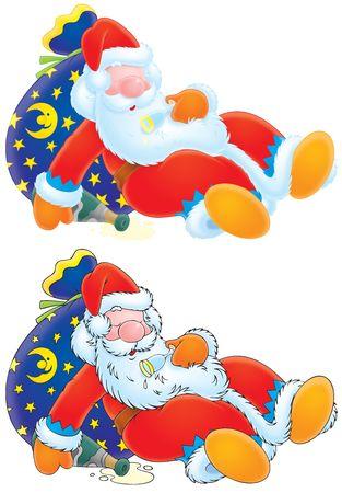 Santa Claus is slightly drunk Stock Photo - 5978836