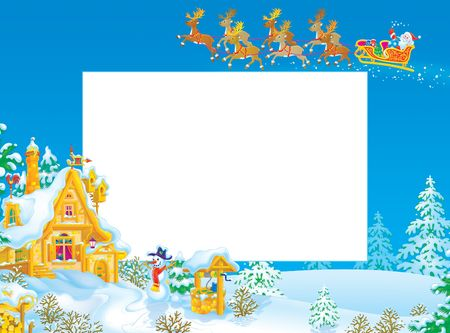 Christmas frame  border with Santa Claus