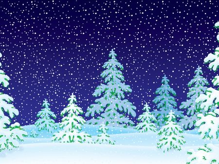 snowfalls: Snowfall in the snow-covered forest