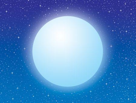 sfondo con la luna piena e il cielo stellato Archivio Fotografico - 6025071