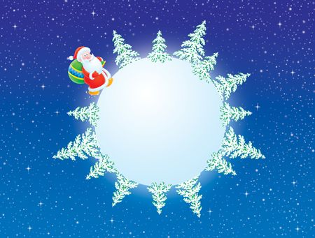 Christmas background with Santa Claus Stock Photo - 6025073