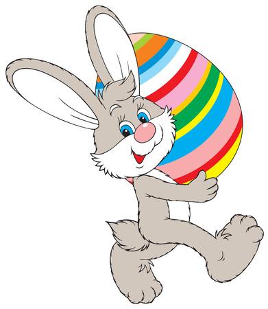 ベアリング: イースターのウサギ  イラスト・ベクター素材
