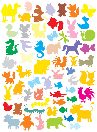welpe: Silhouetten der Tiere Illustration