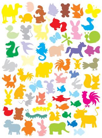oruga: Siluetas de animales