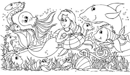 Mermaid and her friends photo