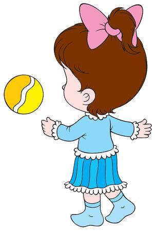 lad: Chica con una pelota
