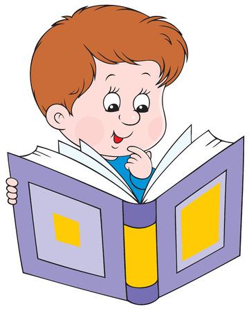 Reading boy Vector