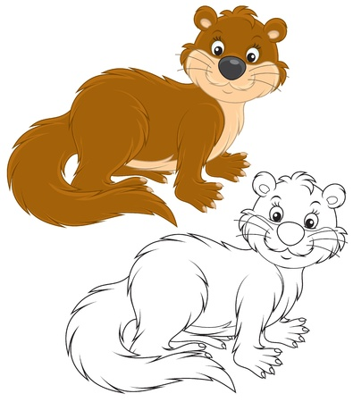 nutria caricatura: Otter