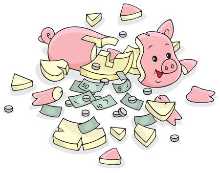 accumulations: Broken piggy bank