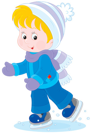 pre school: Child skating Illustration