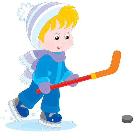 kindergartner: Little hockey player