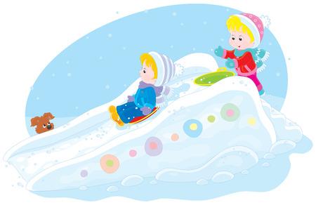 kindergartner: Children on an ice-run
