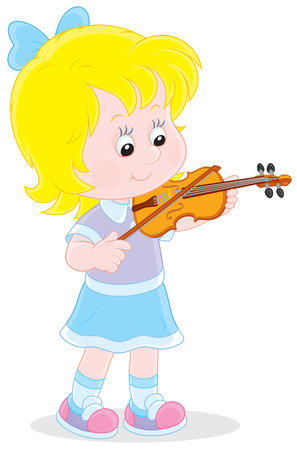 fiddle: Girl playing her small violin
