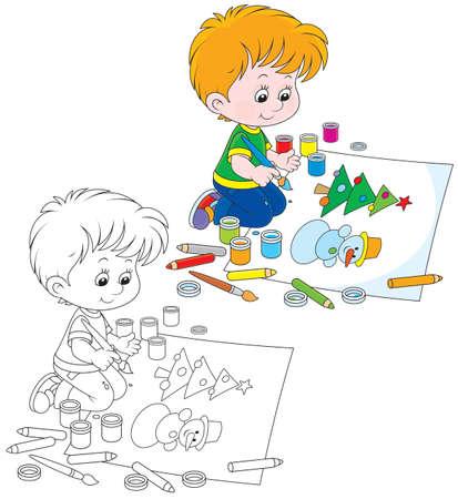 libro caricatura: Pequeño artista