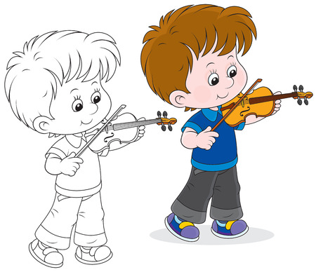 fiddles: Little violinist Illustration