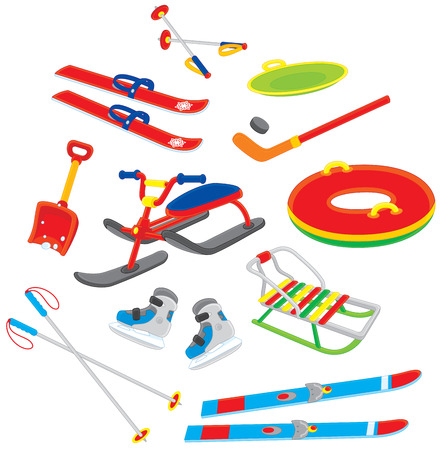 winter sport: objects for winter sport and leisure
