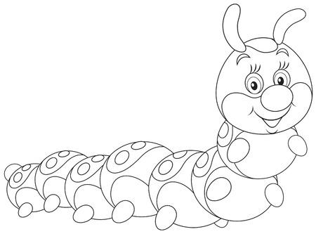 cartoon larva: Caterpillar Illustration