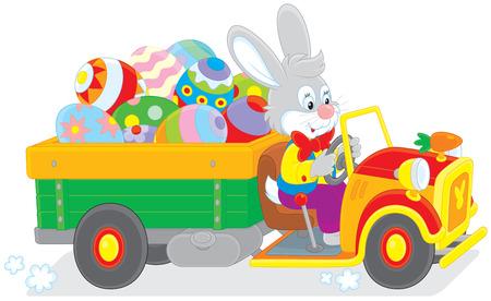 ester: Bunny carries Ester eggs