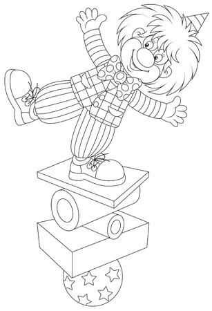 Clown equilibrist Illustration