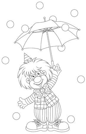 Clown with an umbrella