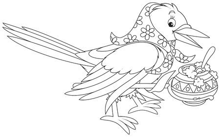 folktale: Gachas de cocci�n Magpie en su bote