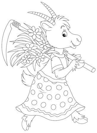folktale: Cabra Vectores